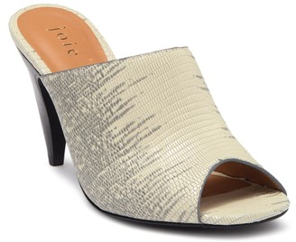 Joie Lizard Embossed Leather Peep Toe Mule