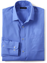 Lands' End Men's Regular Long Sleeve Straight Collar Tonal Stripe Shirt-Perfect Purple