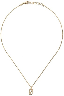 As 29 14kt yellow gold diamond Five necklace