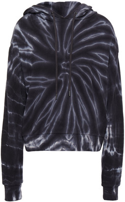 Alice + Olivia Tie-dyed French Cotton-terry Hoodie