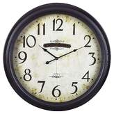 "Lazy Susan Peterhead 24"" Round Wall Clock Brown ;"