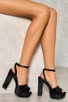 Nasty Gal nastygal Love You Knot Velvet Heel