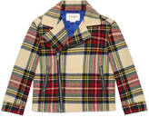Gucci Children's wool tartan biker jacket