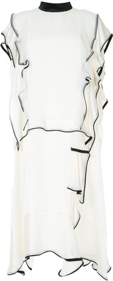 Sacai Ruffle Trim Dress