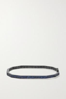 Ofira Dode 18-karat Blackened White Gold Sapphire Bracelet