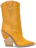 Fendi Cutwalk Croc Embossed Western Boots