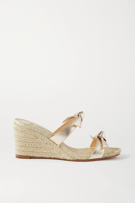 Alexandre Birman Clarita Bow-embellished Metallic Leather Espadrilles - Gold