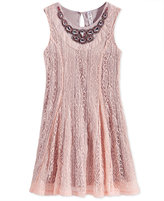 Beautees Sleeveless Lace Sheath Dress, Big Girls (7-16)