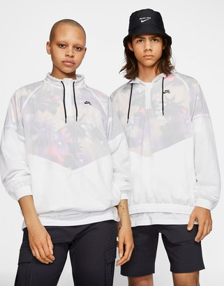 Nike SB floral print overhead windbreaker