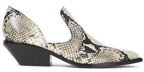 Sigerson Morrison Tabatha Cutout Snake-effect Leather Ankle Boots