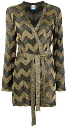 M Missoni Chevron-Print Tie-Waist Cardi-Coat