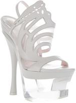 Versace perspex platform sandal