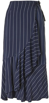 Baukjen Harriet Stripe Skirt In Blue & Slim White Stripe