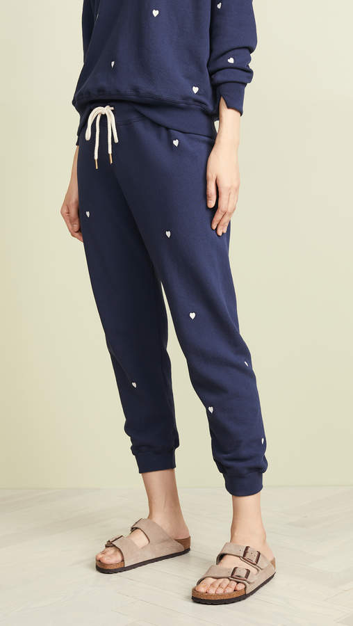 new high quality classic fit 2019 professional Cropped Sweatpants with Heart Embroidery