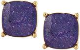 Lydell NYC Cushion-Cut CZ Speckle Stud Earrings, Purple