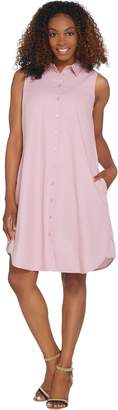 Joan Rivers Classics Collection Joan Rivers Sleeveless Denim Shirt Dress