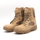 ZHRFei Military Tactical Combat Outdoor Sport Army Men Boots Desert Botas Hiking Autumn Shoes Travel Leather High Boots Male