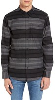 Ezekiel Wylie Striped Long Sleeve Trim Fit Shirt