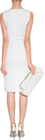 Emilio Pucci White Draped Dress with Side Zip