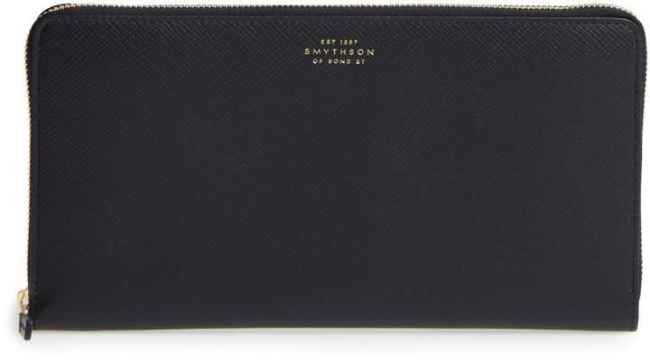 Smythson Panama Calfskin Leather Travel Wallet & Passport Case