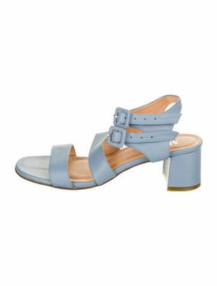 Marais Leather Gladiator Sandals Blue