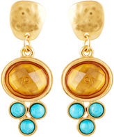 Evelyn Knight Citrine & Turquoise Dot Earrings