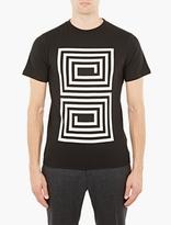 Saturdays Surf NYC Black Maze Motif Cotton T-Shirt