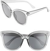 BP Women's 55Mm Square Sunglasses - Black Smoke
