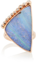 Jill Hoffmeister One-Of-A-Kind 14K Rose Gold, Diamond And Opal Ring