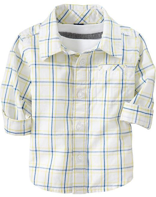 Old Navy Plaid Poplin Shirts for Baby