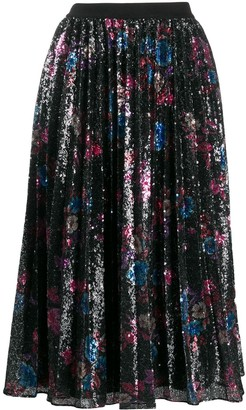 Pinko sequinned floral midi dress