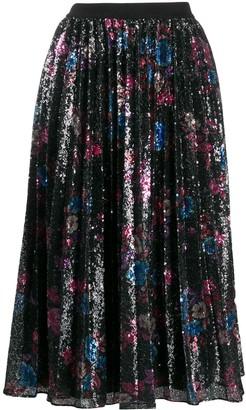 Pinko Sequinned Floral Midi Dress