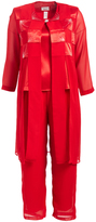 Red Pant Suit - Plus Too