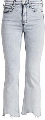 Rag & Bone Nina High-Rise Raw Hem Ankle Flare Jeans