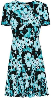 MICHAEL Michael Kors Ruffled Floral-print Stretch-jersey Mini Dress