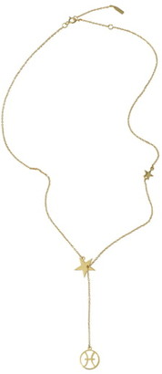 ADORNIA Pisces Zodiac Lariat Necklace