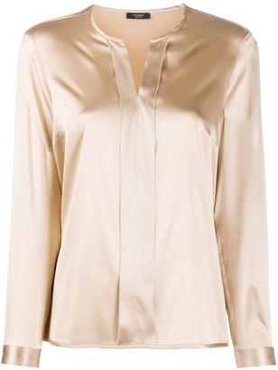 Peserico Long-Sleeved Split-Neck Blouse