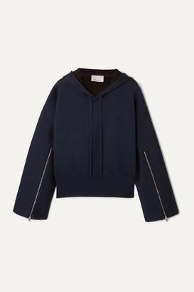 3.1 Phillip Lim Zip-detailed Wool-blend Hoodie - Navy