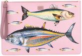 Dolce & Gabbana fish print clutch