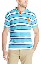 U.S. Polo Assn. Men's Slim Fit Striped Interlock Polo Shirt