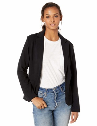 Majestic Filatures Women's French Terry 1-Button Blazer