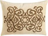 """Callisto Home Como Sequined Velvet Pillow, 20"""" x 26"""""""