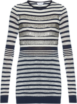 Sonia Rykiel Embellished striped sweater