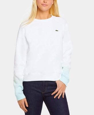 Lacoste Women's Crewneck Ombre Sweatshirt
