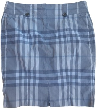 Burberry Grey Cotton Skirt for Women Vintage