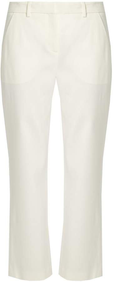 ADAM by Adam Lippes Cropped stretch-cady tuxedo trousers