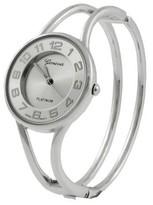 Geneva Platinum Polished Bangle Womens Watch - Silver