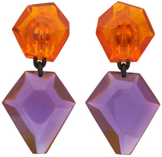 Monies Jewellery Orange and Purple Riley Earrings