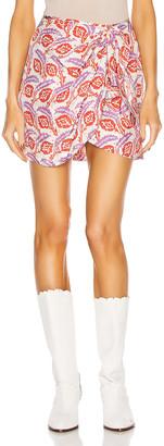 Isabel Marant Renzia Skirt in Poppy Orange   FWRD