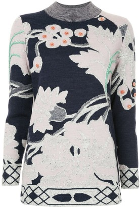 Onefifteen Floral Pattern Sweater
